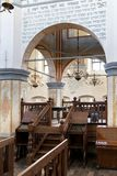Interior of the historic great synagogue building. TYKOCIN, POLAND - MAY 03, 2018: Interior of the historic great synagogue building in mannerist-early Baroque Stock Photos