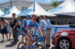Tyler Farrar 2013 Tour of California. Tyler Farrar of Team Garmin-Sharp at the 2013 Amgen Tour of California at the starting line in Escondido, California on Stock Photos