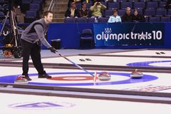 Tyler George - Curling Athlete Royalty Free Stock Image