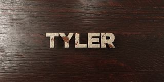 Tyler - grungy wooden headline on Maple  - 3D rendered royalty free stock image. This image can be used for an online website banner ad or a print postcard Stock Image