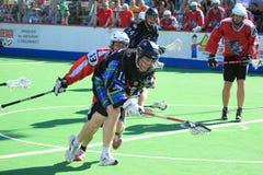 Tyler Leeming - box lacrosse Stock Image
