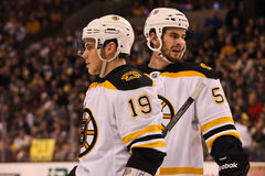 Tyler Seguin e Adam McQuaid Immagine Stock