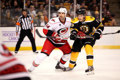 Tyler Seguin and Jay Harrison Bruins v. Hurricanes Stock Photography