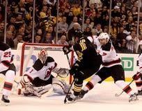 Tyler Seguin v. Johan Hedberg (NHL Hockey) Royalty Free Stock Image