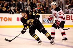 Tyler Seguin v. Patrick Elias (Bruins v. Devils) Royalty Free Stock Photo