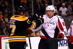 Tyler Sloan and Milan Lucic Stock Image