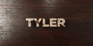 Tyler - titre en bois sale sur l'érable - image courante gratuite de redevance rendue par 3D Image stock
