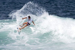 Tyler Wright Surfing in Womens Hawaiian Pro Stock Image