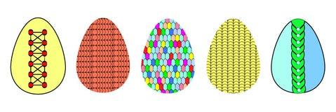 Tylish icons of stylized colorful Easter eggs royalty free illustration