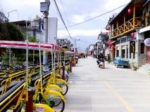 Tylko wioski mola streetscape i domy zdjęcia royalty free