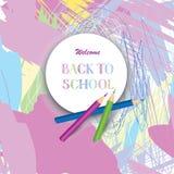 tylna banner do szkoły Żartuje ar lab malującego tło z kolorem Obrazy Royalty Free