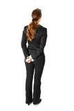 tylna biznesowa kamera kobieta jej pozycja Zdjęcia Royalty Free