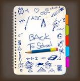 tylna doodle ilustracj plakata szkoła Zdjęcia Royalty Free