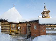 Tylna furta kościół Panteleimon uzdrowiciel przy Medycznym c fotografia royalty free