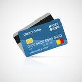 tylna karty kredyta przodu ikony strona Zdjęcia Royalty Free
