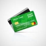 tylna karty kredyta przodu ikony strona Zdjęcia Stock