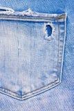 Tylna kieszeń błękitni, rozdzierający cajgi, Obrazy Royalty Free