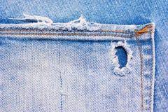 Tylna kieszeń błękitni, rozdzierający cajgi, Zdjęcia Stock