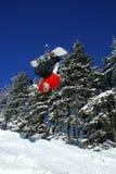 tylna klapa robi snowboarder Zdjęcia Royalty Free