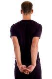 tylna męska mięśniowa poza Fotografia Royalty Free