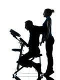 Tylna masaż terapia z krzesłem Zdjęcia Stock