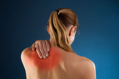 tylna masowania bólu kobieta Fotografia Stock