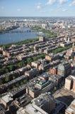 tylna podpalana bostonu Charles rzeka Fotografia Royalty Free