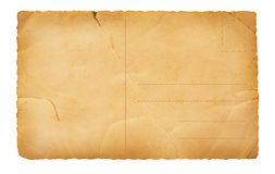 Tylna stara pocztówka Obrazy Stock