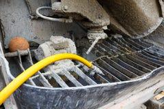 Tylna strona beton ciężarówka fotografia royalty free