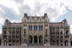 Tylna strona hungarian parlament Zdjęcia Stock