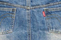 Tylna strona niebiescy dżinsy Obraz Stock