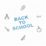 tylna szkoły Set rysunkowi elementy z prześcieradłem w pudełku dla edukaci 10 eps ilustracyjny osłony wektor Obraz Royalty Free