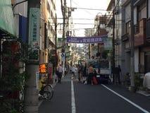 Tylna ulica przy Togoshi-Ginza zakupy ulicą, Togoshi-Ginza, Shinagawa, Tokio, Japonia Obraz Royalty Free