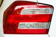 tylne światła czerwonego samochodu Fotografia Royalty Free