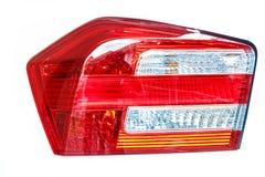 tylne światła czerwonego samochodu Obrazy Royalty Free