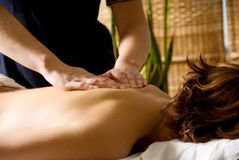 tylne masaż. zdjęcie stock