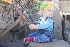 tylnego kierowcy przyglądający zbiornik Fotografia Stock