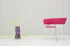 tylnego krzesła łatwa czerwień Fotografia Royalty Free