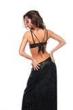 tylnej brunetki dancingowej dziewczyny seksowny oblicze Fotografia Royalty Free