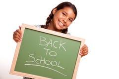 tylnej chalkboard dziewczyny latynoski mienie dosyć Zdjęcie Royalty Free