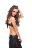 tylnej pięknej brunetki dziewczyny seksowny oblicze Obraz Royalty Free