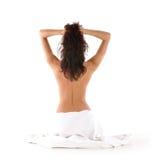tylni brunetki medytaci potomstwa zdjęcie royalty free