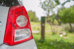Tylni lampa parking samochodowy w ogródzie Obrazy Stock