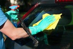 Tylni nadokienny cleaning Obrazy Royalty Free