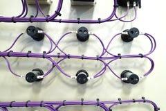 Tylni nasadka zmiana dla elektronicznego pudełka z purpurami depeszuje Obraz Royalty Free