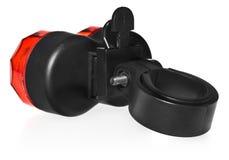 Tylni rower lampa, klingeryt w czerwonym kolorze Obrazy Royalty Free