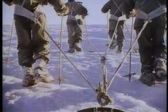Tylni widok Antarktyczna wyprawa zbiory wideo