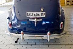 Tylni widok Błękitny barwiony Mercury samochód od 1940 obrazy royalty free