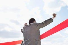 Tylni widok biznesmen mety przeciw niebu skrzyżowanie Fotografia Royalty Free
