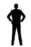 Tylni widok biznesowego mężczyzna pozycja Fotografia Royalty Free